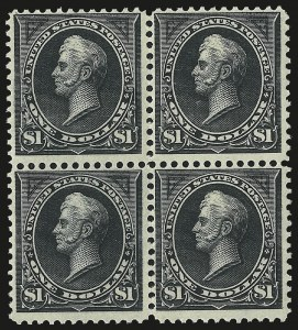Sale Number 977, Lot Number 432, 1895 Watermarked Bureau Issue ($1.00, Scott 276, 276A)$1.00 Black, Ty. I (276), $1.00 Black, Ty. I (276)