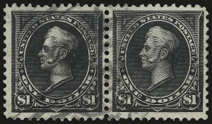 Sale Number 977, Lot Number 438, 1895 Watermarked Bureau Issue ($1.00, Scott 276, 276A)$1.00 Black, Ty. I-II (276-276A), $1.00 Black, Ty. I-II (276-276A)