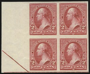 Sale Number 977, Lot Number 500, 1895 Issue Imperforate (Scott 264a-278a)2c Carmine, Ty. III, Imperforate (267a), 2c Carmine, Ty. III, Imperforate (267a)