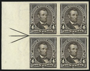 Sale Number 977, Lot Number 506, 1895 Issue Imperforate (Scott 264a-278a)4c Dark Brown, Imperforate (269a), 4c Dark Brown, Imperforate (269a)