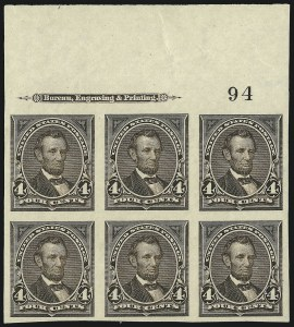 Sale Number 977, Lot Number 507, 1895 Issue Imperforate (Scott 264a-278a)4c Dark Brown, Imperforate (269a), 4c Dark Brown, Imperforate (269a)
