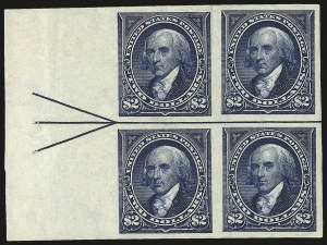 Sale Number 977, Lot Number 513, 1895 Issue Imperforate (Scott 264a-278a)$2.00 Dark Blue, Imperforate (277b), $2.00 Dark Blue, Imperforate (277b)