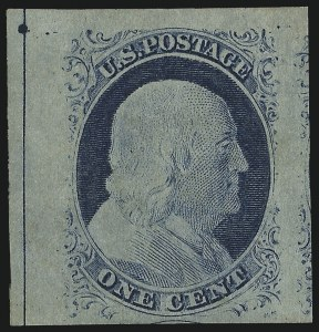 Sale Number 978, Lot Number 1010, 1851-56 Issue1c Blue, Ty. IV (9), 1c Blue, Ty. IV (9)