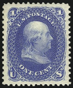 Sale Number 978, Lot Number 1022, 1875 Re-Issue of 1861-66 Issue1c Blue, Re-Issue (102), 1c Blue, Re-Issue (102)