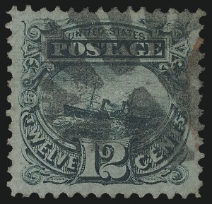 Sale Number 978, Lot Number 1028, 1869 Pictorial Issue12c Green (117), 12c Green (117)