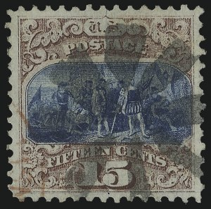 Sale Number 978, Lot Number 1029, 1869 Pictorial Issue15c Brown & Blue, Ty. I (118), 15c Brown & Blue, Ty. I (118)