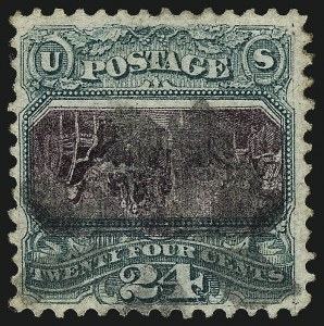 Sale Number 978, Lot Number 1031, 1869 Pictorial Issue24c Green & Violet, Center Inverted (120b), 24c Green & Violet, Center Inverted (120b)