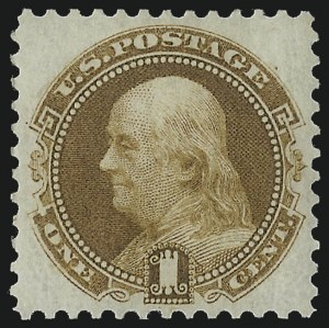 Sale Number 978, Lot Number 1035, 1875 Re-Issue of 1869 Pictorial Issue1c Buff, Re-Issue (123), 1c Buff, Re-Issue (123)