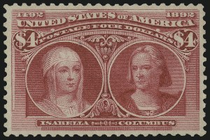 Sale Number 978, Lot Number 1074, Columbian Issue$4.00 Columbian (244), $4.00 Columbian (244)