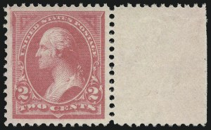 Sale Number 978, Lot Number 1077, 1894-98 Bureau Issues2c Pink, Ty. I (248), 2c Pink, Ty. I (248)