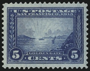 Sale Number 978, Lot Number 1105, 1908 and Later Issues5c Panama-Pacific (399), 5c Panama-Pacific (399)