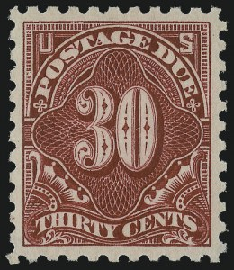 Sale Number 978, Lot Number 1129, Postage Due30c Carmine Lake (J57), 30c Carmine Lake (J57)