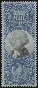 Sale Number 978, Lot Number 1175, Revenues$10.00 Blue & Black, Second Issue (R128), $10.00 Blue & Black, Second Issue (R128)