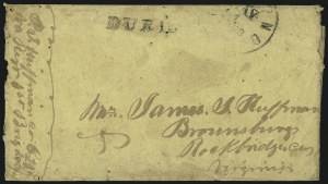 Sale Number 980, Lot Number 2861, The Steven C. Walske Collection of Military Mails (Soldiers Due Covers)Richmond Va. May 11, 1863, Richmond Va. May 11, 1863
