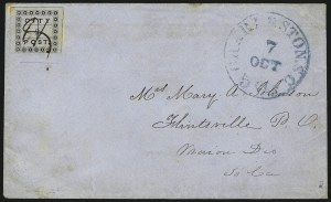 Sale Number 980, Lot Number 2961, Carriers(Honour's) City Post, Charleston S.C., 2c Black (4LB3), (Honour's) City Post, Charleston S.C., 2c Black (4LB3)