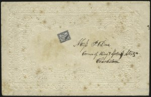Sale Number 980, Lot Number 2963, CarriersHonour's City Post, Charleston S.C., 2c Black on Bluish (4LB8), Honour's City Post, Charleston S.C., 2c Black on Bluish (4LB8)