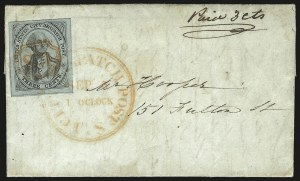 Sale Number 980, Lot Number 2968, CarriersU.S. City Despatch Post, New York N.Y., 3c Black on Light Blue Unsurfaced (6LB3), U.S. City Despatch Post, New York N.Y., 3c Black on Light Blue Unsurfaced (6LB3)