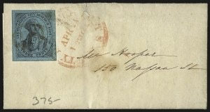 Sale Number 980, Lot Number 2969, CarriersU.S. City Despatch Post, New York N.Y., 3c Black on Blue Green Glazed (6LB5), U.S. City Despatch Post, New York N.Y., 3c Black on Blue Green Glazed (6LB5)