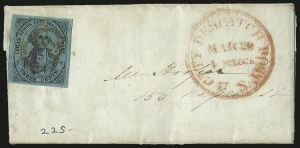 Sale Number 980, Lot Number 2970, CarriersU.S. City Despatch Post, New York N.Y., 3c Black on Blue Green Glazed (6LB5), U.S. City Despatch Post, New York N.Y., 3c Black on Blue Green Glazed (6LB5)