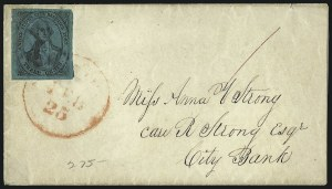 Sale Number 980, Lot Number 2971, CarriersU.S. City Despatch Post, New York N.Y., 3c Black on Blue Green Glazed (6LB5), U.S. City Despatch Post, New York N.Y., 3c Black on Blue Green Glazed (6LB5)