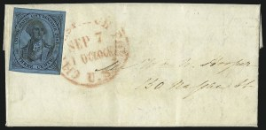 Sale Number 980, Lot Number 2972, CarriersU.S. City Despatch Post, New York N.Y., 3c Black on Blue Glazed (6LB5b), U.S. City Despatch Post, New York N.Y., 3c Black on Blue Glazed (6LB5b)