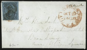 Sale Number 980, Lot Number 2973, CarriersU.S. City Despatch Post, New York N.Y., 3c Black on Blue Glazed (6LB5b), U.S. City Despatch Post, New York N.Y., 3c Black on Blue Glazed (6LB5b)