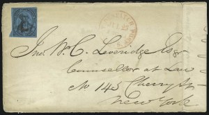 Sale Number 980, Lot Number 2974, CarriersU.S. City Despatch Post, New York N.Y., 3c Black on Blue Glazed (6LB5b), U.S. City Despatch Post, New York N.Y., 3c Black on Blue Glazed (6LB5b)