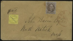 Sale Number 980, Lot Number 2975, CarriersU.S. Mail, New York N.Y., 1c Black on Yellow Glazed (6LB10), U.S. Mail, New York N.Y., 1c Black on Yellow Glazed (6LB10)