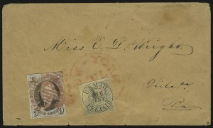 Sale Number 980, Lot Number 2976, CarriersU.S. Mail, New York N.Y., 1c Black on Buff Glazed (6LB11), U.S. Mail, New York N.Y., 1c Black on Buff Glazed (6LB11)