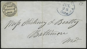 "Sale Number 980, Lot Number 2990, Local and Private PostsD. O. Blood & Co., Philadelphia Pa., (2c) Black, ""For the Post Office"" (15L8), D. O. Blood & Co., Philadelphia Pa., (2c) Black, ""For the Post Office"" (15L8)"