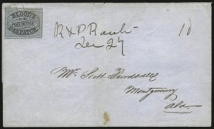 Sale Number 980, Lot Number 2991, Local and Private PostsBlood's City Despatch, Philadelphia Pa., (unstated value) Black & Blue (15L10), Blood's City Despatch, Philadelphia Pa., (unstated value) Black & Blue (15L10)