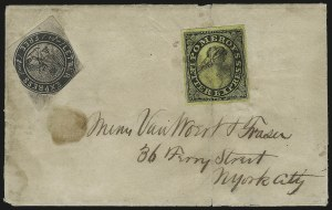 Sale Number 980, Lot Number 3016, Local and Private PostsLetter Express (Wells), 10c Black on Pink Glazed (96L3), Letter Express (Wells), 10c Black on Pink Glazed (96L3)