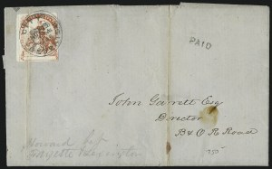 Sale Number 980, Lot Number 3023, Local and Private PostsOne Cent Despatch (Wiley), Baltimore Md., 1c Red (112L2), One Cent Despatch (Wiley), Baltimore Md., 1c Red (112L2)