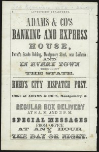 Sale Number 980, Lot Number 3029, Local and Private PostsReed's City Despatch Post, San Francisco Cal, Reed's City Despatch Post, San Francisco Cal