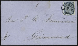 Sale Number 980, Lot Number 3411, Foreign Countries (New Guinea thru Nova Scotia)NORWAY, 1855, 4s Blue (1), NORWAY, 1855, 4s Blue (1)