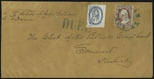 Sale Number 981, Lot Number 4091, Louisville Carrier DepartmentBrown & McGill's U.S.P.O. Despatch, Louisville Ky., (2c) Blue (5LB2), Brown & McGill's U.S.P.O. Despatch, Louisville Ky., (2c) Blue (5LB2)