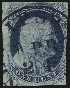 Sale Number 982, Lot Number 5041, 1c-3c 1851-56 Issue (Scott 5-11)1c Blue, Ty. III (8), 1c Blue, Ty. III (8)