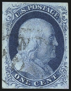 Sale Number 982, Lot Number 5044, 1c-3c 1851-56 Issue (Scott 5-11)1c Blue, Ty. IIIa (8A), 1c Blue, Ty. IIIa (8A)