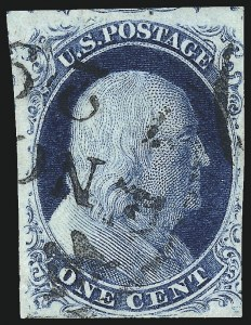 Sale Number 982, Lot Number 5045, 1c-3c 1851-56 Issue (Scott 5-11)1c Blue, Ty. IIIa (8A), 1c Blue, Ty. IIIa (8A)