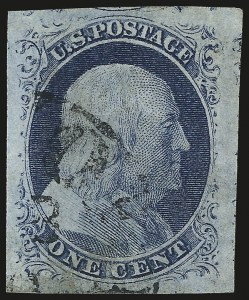 Sale Number 982, Lot Number 5046, 1c-3c 1851-56 Issue (Scott 5-11)1c Blue, Ty. IV (9), 1c Blue, Ty. IV (9)