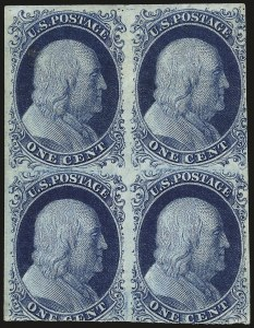 Sale Number 982, Lot Number 5047, 1c-3c 1851-56 Issue (Scott 5-11)1c Blue, Ty. IV (9), 1c Blue, Ty. IV (9)