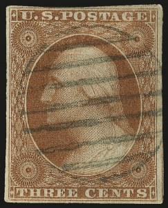 Sale Number 982, Lot Number 5059, 1c-3c 1851-56 Issue (Scott 5-11)3c Orange Brown, Part India Paper (10 var), 3c Orange Brown, Part India Paper (10 var)