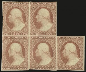Sale Number 982, Lot Number 5062, 1c-3c 1851-56 Issue (Scott 5-11)3c Dull Red, Ty. I (11), 3c Dull Red, Ty. I (11)