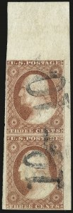 Sale Number 982, Lot Number 5063, 1c-3c 1851-56 Issue (Scott 5-11)3c Dull Red, Ty. I (11), 3c Dull Red, Ty. I (11)