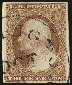 Sale Number 982, Lot Number 5066, 1c-3c 1851-56 Issue (Scott 5-11)3c 1856 Orange Brown, Ty. I (11 var), 3c 1856 Orange Brown, Ty. I (11 var)