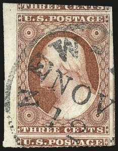 Sale Number 982, Lot Number 5068, 1c-3c 1851-56 Issue (Scott 5-11)3c Brownish Carmine, Ty. II (11A), 3c Brownish Carmine, Ty. II (11A)