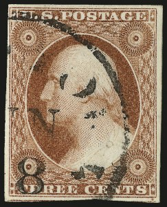 Sale Number 982, Lot Number 5073, 1c-3c 1851-56 Issue (Scott 5-11)3c 1856 Orange Brown, Ty. II (11A var), 3c 1856 Orange Brown, Ty. II (11A var)