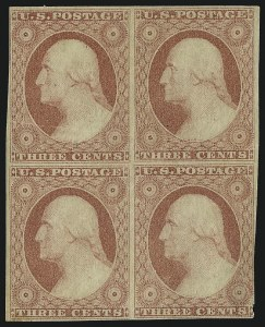 Sale Number 982, Lot Number 5075, 1c-3c 1851-56 Issue (Scott 5-11)3c 1851-57 Issue Multiples, 3c 1851-57 Issue Multiples
