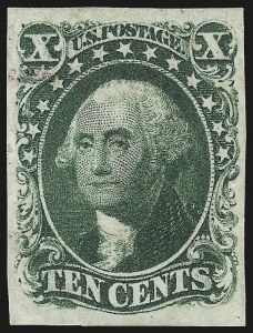 Sale Number 982, Lot Number 5088, 5c-12c 1851-56 Issue (Scott 12-17)10c Green, Ty. IV (16), 10c Green, Ty. IV (16)