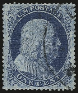 Sale Number 982, Lot Number 5102, 1c-3c 1857-60 Issue (Scott 18-26A)1c Blue, Ty. III (21), 1c Blue, Ty. III (21)